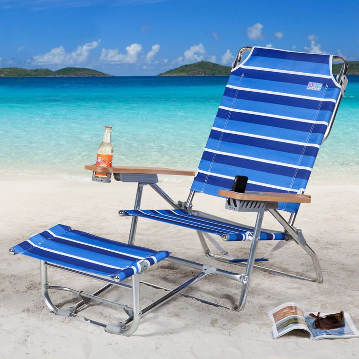 Folding Beach Chair With Leg Rest