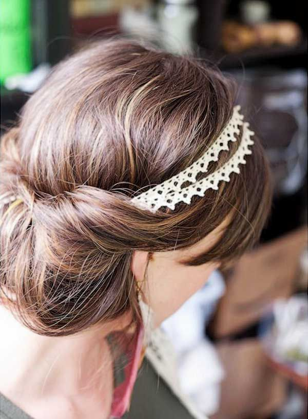 38 best christmas party hair images on pinterest gatsby party add a pretty headband to complete a classy up do solutioingenieria Choice Image