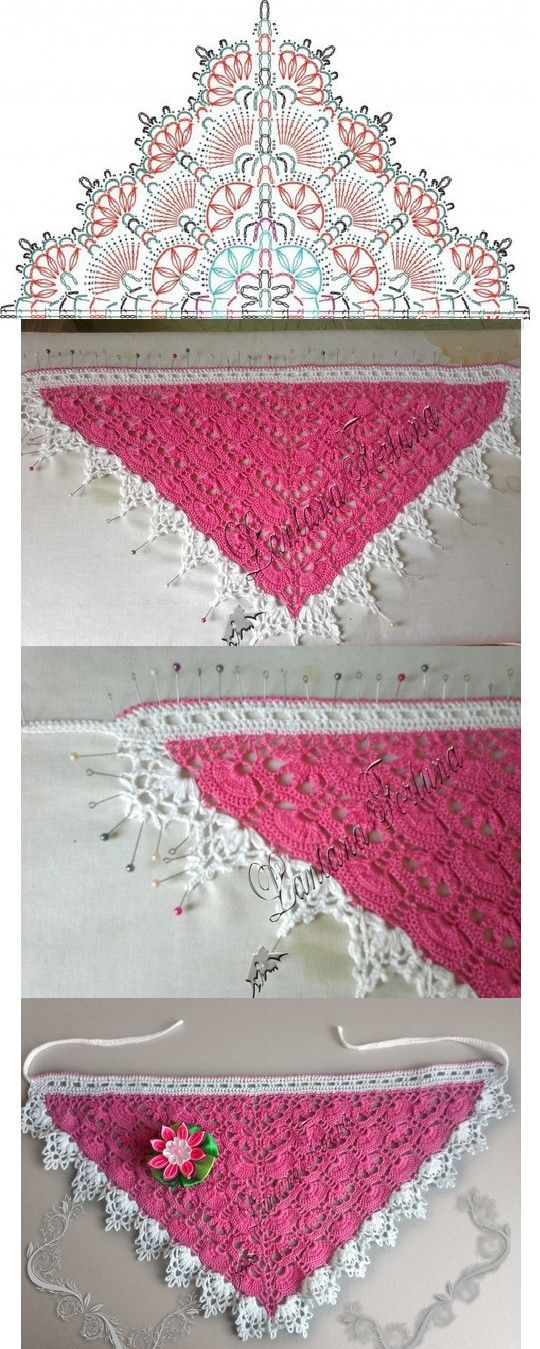 156 Best Crochet Kerchief Headscarf Images On Pinterest Knitting