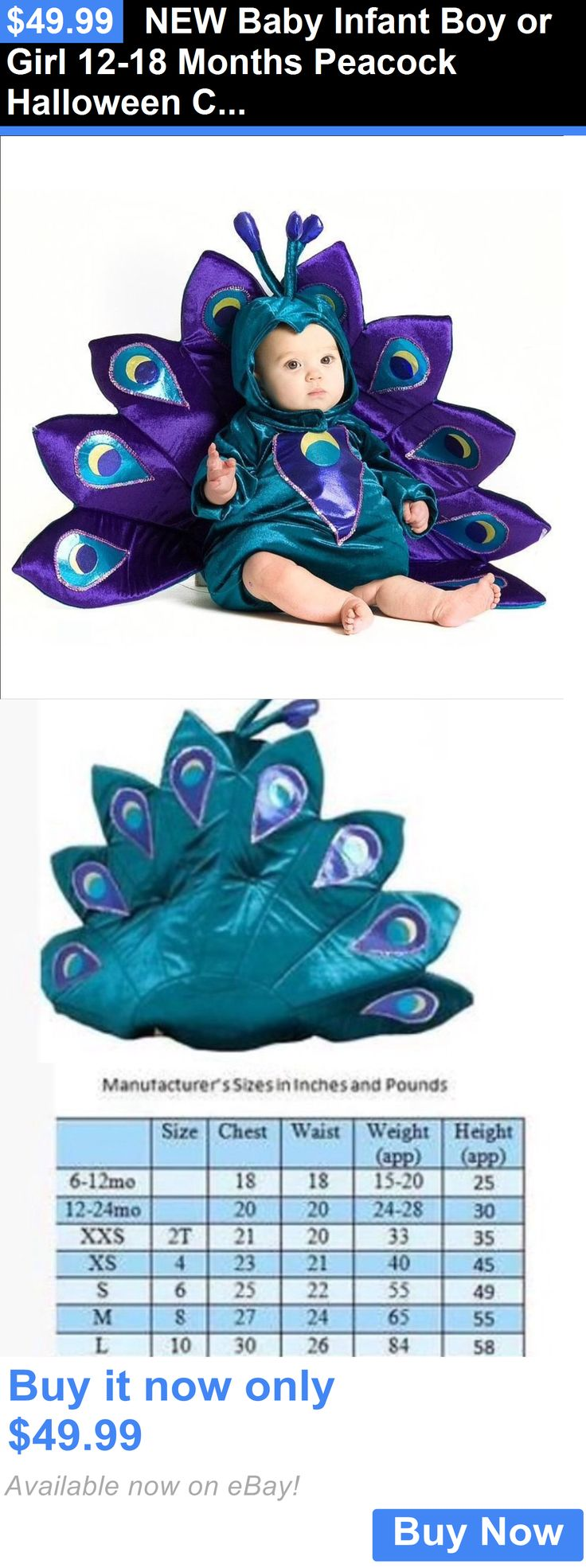 Halloween Costumes Kids: New Baby Infant Boy Or Girl 12-18 Months Peacock Halloween Costume BUY IT NOW ONLY: $49.99