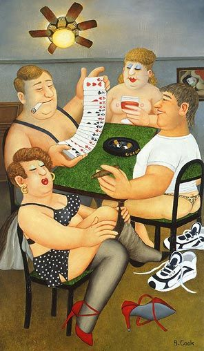 Beryl Cook's wonderful saucy illustrations, observing us Brits!