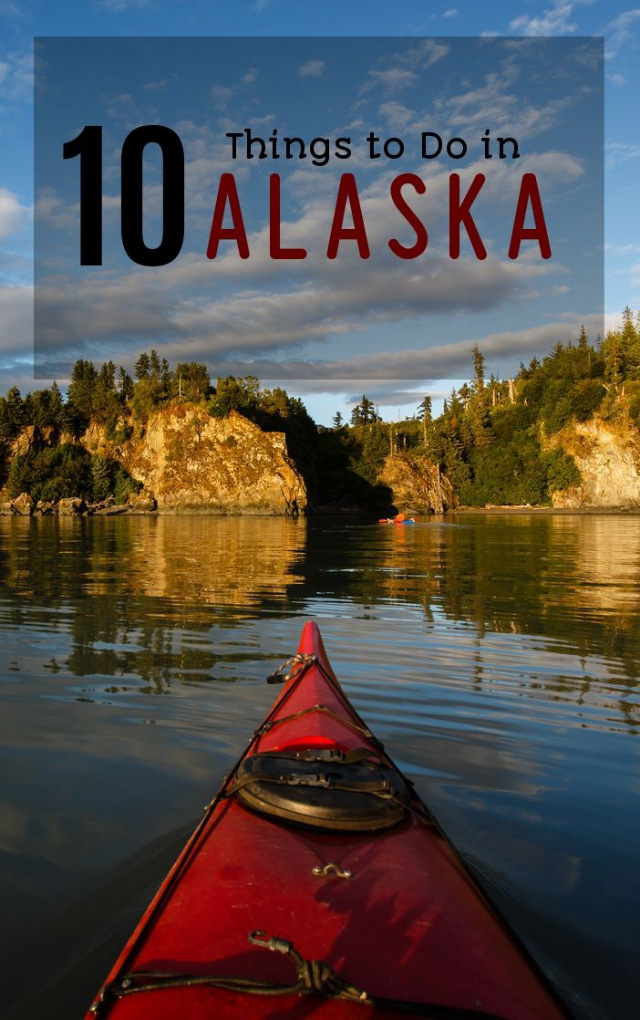 Experience the turbulent Alaskan water with a kayak.