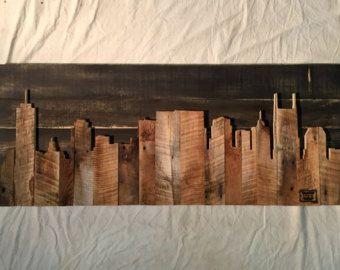 Handgemaakte Cincinnati 48 Skyline van legacybuilding op Etsy
