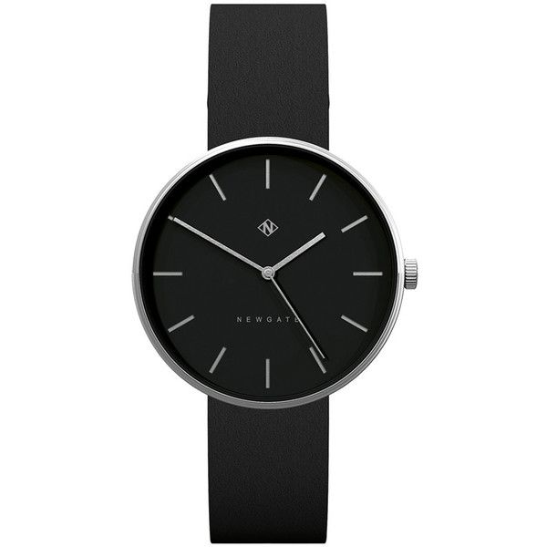 Newgate Clocks Drumline Reverse Dial Watch - Black Strap - Stainless... (€200) ❤ liked on Polyvore featuring jewelry, watches, accessories, relógios, black, stainless steel jewelry, dial watches, water resistant watches, polish jewelry and black face watches