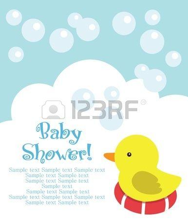 Eğlenceli Bebek Duş Kartı. Vector Illustration Royalty Free Klipartlar, Vektör Çizimler Ve Stok Çizim. Image 20562872.