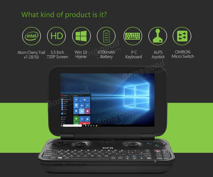 Original Box GPD WIN 64GB Intel Atom X7-8750 Quad Core 5.5 Inch Win 10 OS GamePad Tablet