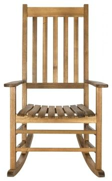 Shasta Rocking Chair - farmhouse - Outdoor Rocking Chairs - Pacific Rug & Home $149.99