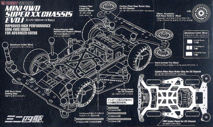 Mini 4WD Super XX Chassis EVO 1