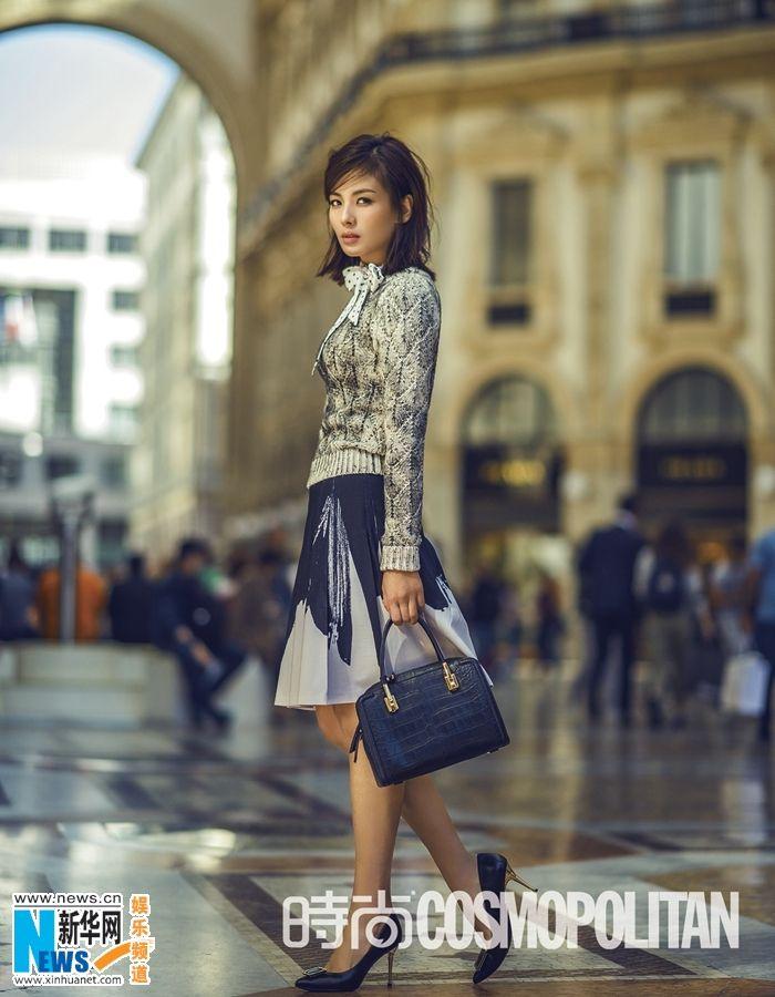 Actress Liu Tao S Street Style Fashion Shots In Milan China Entertainment News Fashion Style Street Style