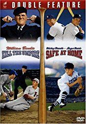 "Baseball Double Feature - Kill the Umpire / Safe at HomeKill The Umpire: When his wife threatens to leave him  unless he finds steady employment, a baseball fanatic reluctantly accepts a job as a minor league umpire, ""the lowest a man can get.   #boy #camp #friendship #league #leave #man #minor #safe #steady #training #true #young"