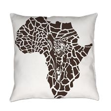 Africa in a giraffe camouflage Everyday Pillow