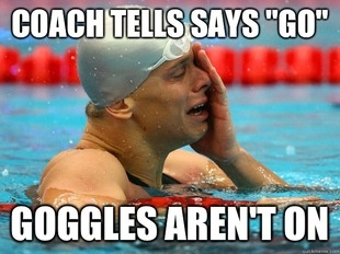 Swimmer problems. especially during interval sets