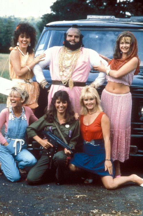 Benny Hill as B.A. Baracus and his A-Team.