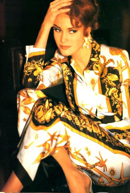 Angie Everhart in Versace 1990's