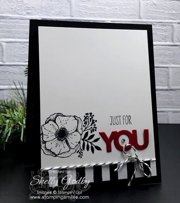 Chic clean and simple card ideas with Stampin' Up! Amazing You Stamp Set. Stampin' Up! Amazing You card designed by Shelly Godby of www.stampingsmiles.com