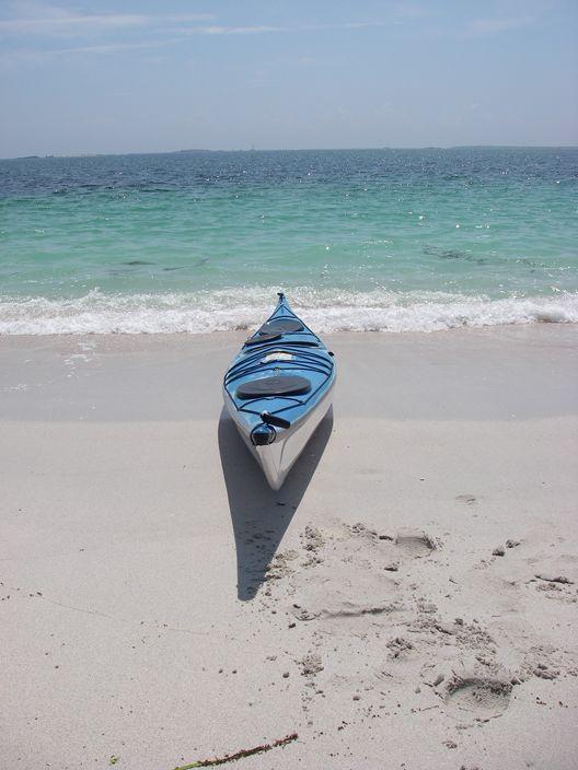 Kayak on Iles de Glenan beach in France