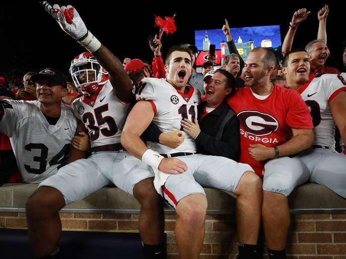 Sports Illustrated's 100 Best Photos of 2017 - December 14, 2017:  JAKE FROMM (CENTER) | WEEK 2, GEORGIA VS. NOTRE DAME