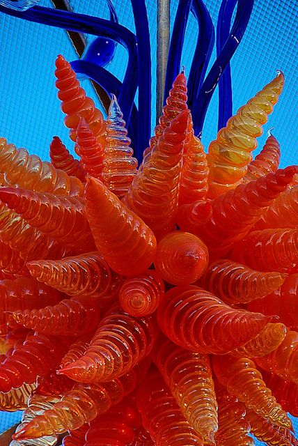 Chihuly Orange Chandelier - Desert Botanical Garden by Al_HikesAZ, via Flickr