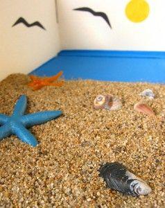 sanat etkinliği minik plaj kutum