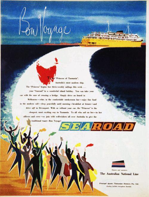 ANL Sealine Melbourne - Devonport cruise ferry. 1959.