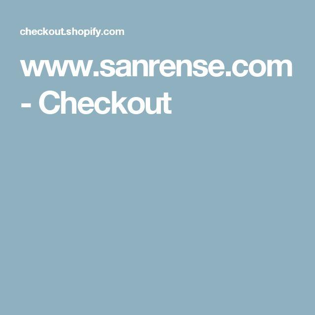 www.sanrense.com - Checkout