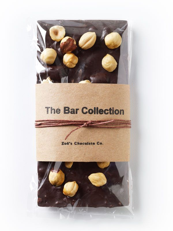 The Hazelnut Bar Dark Chocolate Filled with Crispy Crushed Crepes and Covered with Roasted Hazelnuts. Please visit our website for your next purchase: http://www.zoeschocolate.com/shop?cat=The-Bar-Collection