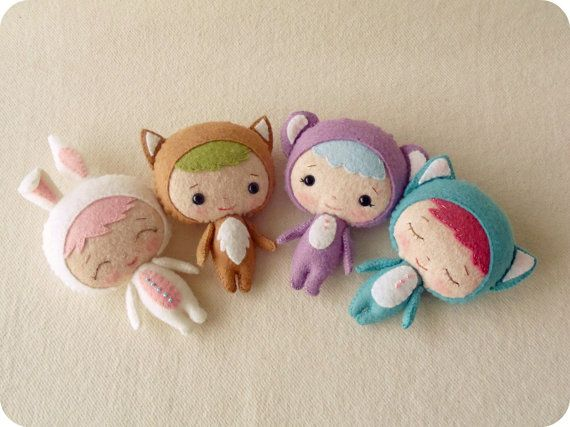 Adorable Animal dolls - too bad I can't sew to save my life