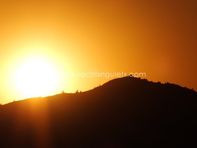 Marmaris golden sunset