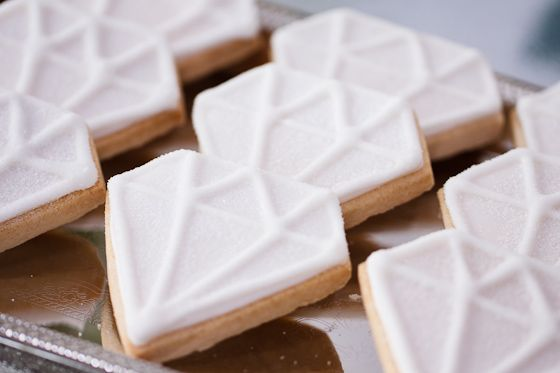 diamond sugar cookies. So going to do these for office diamond-themed Christmas party