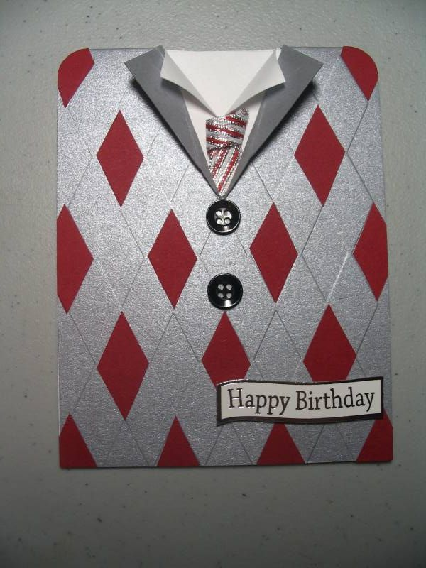 one of the most clever masculine birthday cards ever