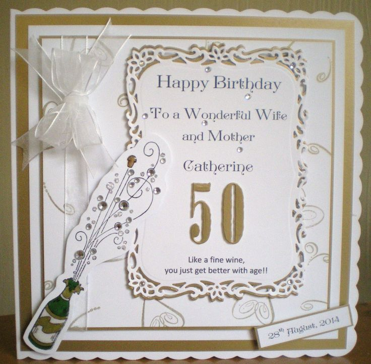 50th Birthday Cards Cricut: 39 Best 50th Birthday Cards Images On Pinterest