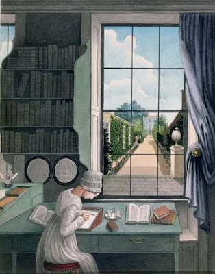 """Thomas Pole, """"In the Library, St James's Square, Bristol,"""" c. 1805-6"""