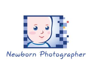 Newborn photographer logo by Paul Cristian at Coroflot.com