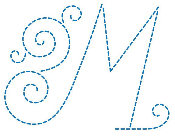 Templates for monograms/letters - every letter is available