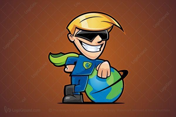 Logo for sale: Cartoon Superhero Logo