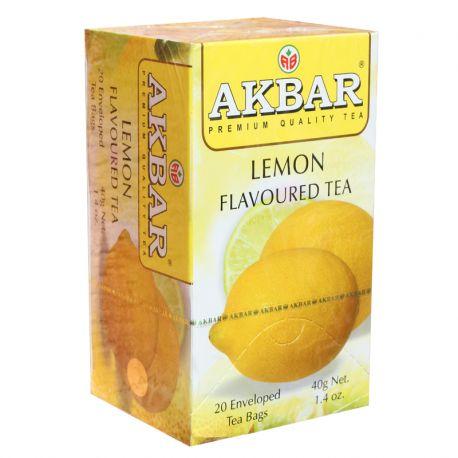Té negro Akbar con sabor a limón