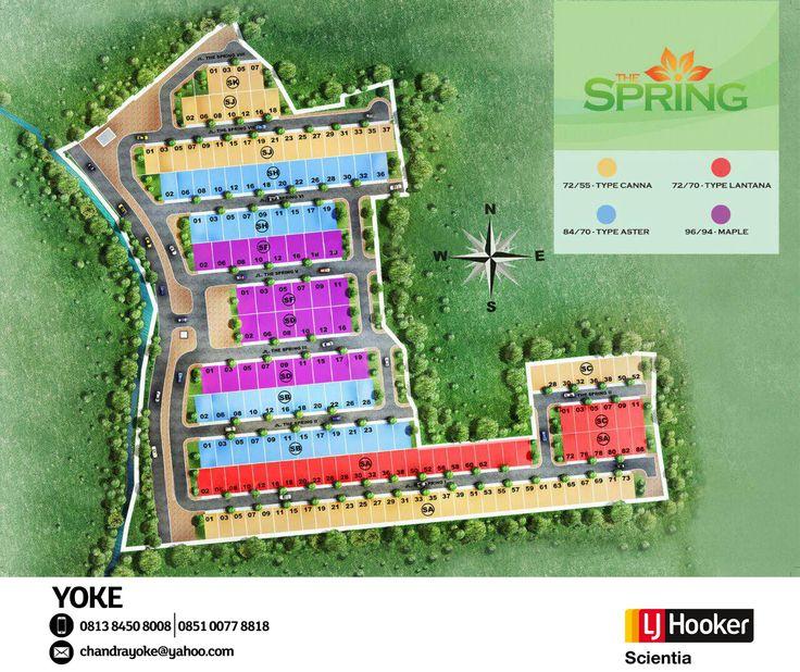 SITE PLAN - The Spring @ Serpong Jaya - developed by PT Jaya Real Property [ Bintaro Jaya Group ]