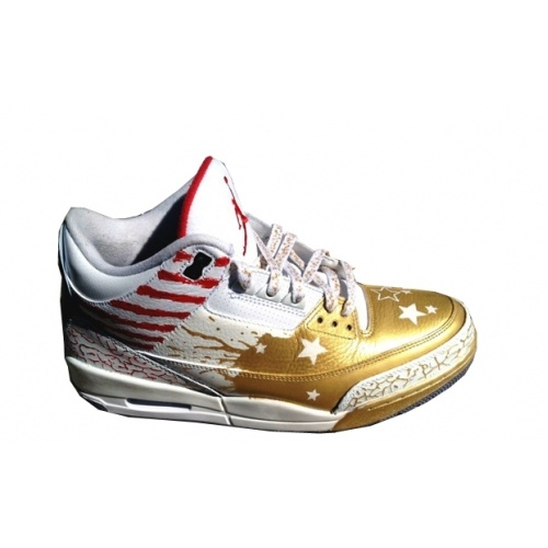 Air Jordan 3 Dave White Gold White Red