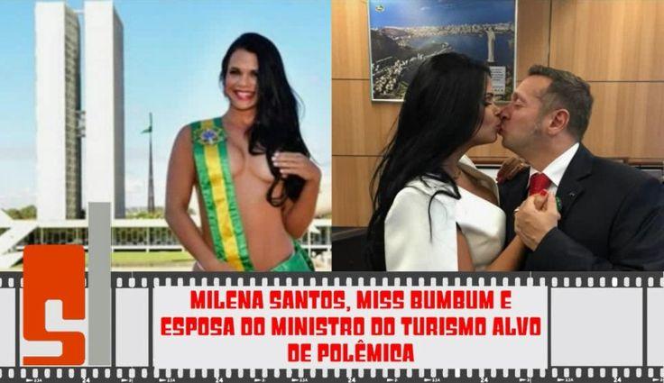 Deixa a Moça! Milena Santos, Esposa de Alessandro Teixeira Ministro dos Esportes Protesta - Ensaio Sensual
