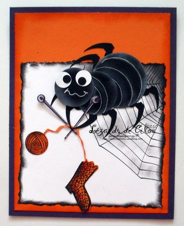 cute spider punch art - Joe says he wants this for his birthday.  haha