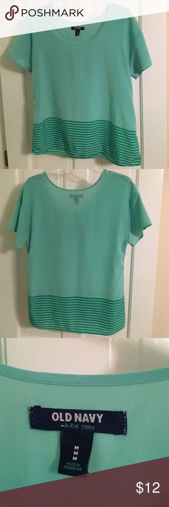 NWOT Cute top from Old Navy Mint green shirt from old navy Old Navy Tops Blouses