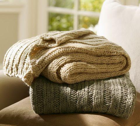 meleg kötött takarók
