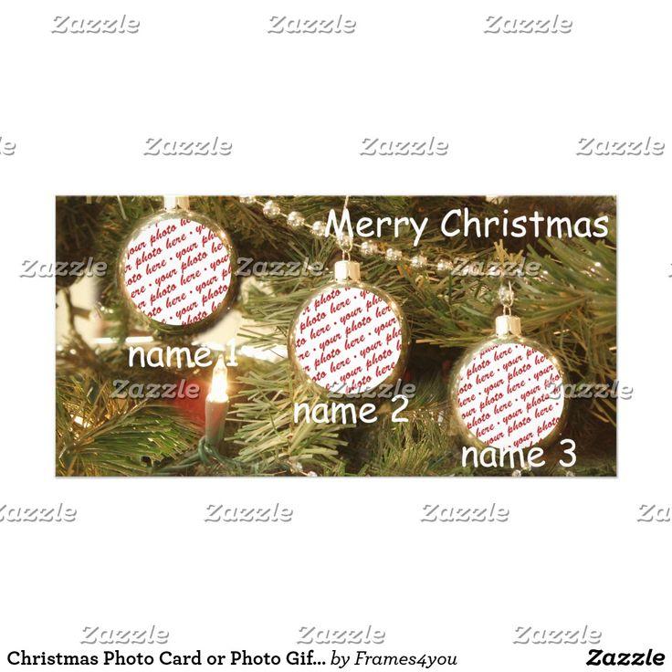 Christmas Photo Card or Photo Gift Tag Christmas Greeting Card ~ #ilovexmas #Gravityx9 #christmascard #i_love_xmas - #addaphoto