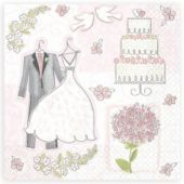 Sweet Romance Beverage Napkins 16ct - Bridal Shower Themes - Bridal Shower - Special Occasions - Categories - Party City