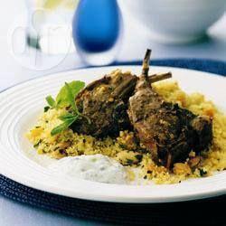 Lamb Cutlets with Couscous @ allrecipes.com.au