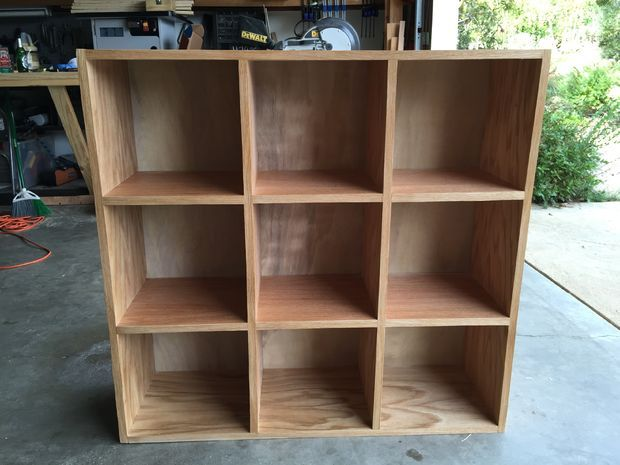 Picture of Bookcase Storage Cubby Unit with directions to make it!