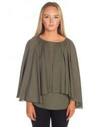 Unique Esther Clergy Blouse Green
