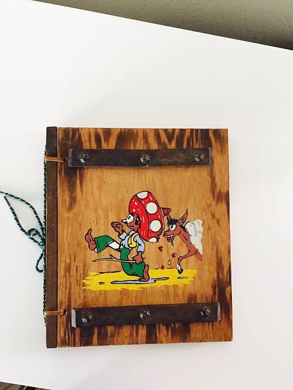 Rustic Wood Photo Album Scrapbook Souvenir