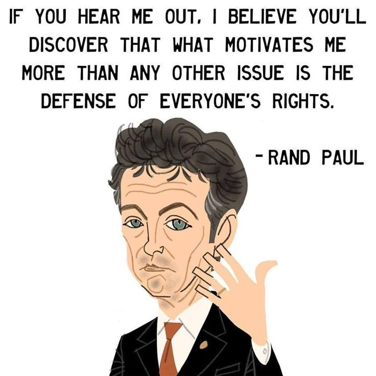 Rand Paul fights for your rights guarantied in the Constitution.