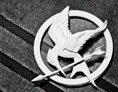 """Check out new work on my @Behance portfolio: """"The hunger games Mockingjay pin"""" http://be.net/gallery/33572125/The-hunger-games-Mockingjay-pin"""